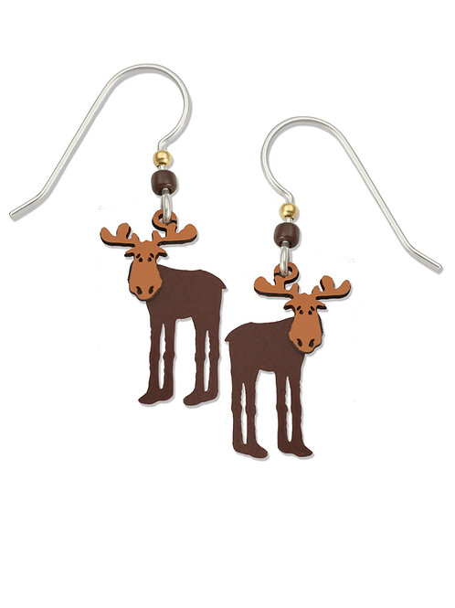 Two-Tone Moose Earrings