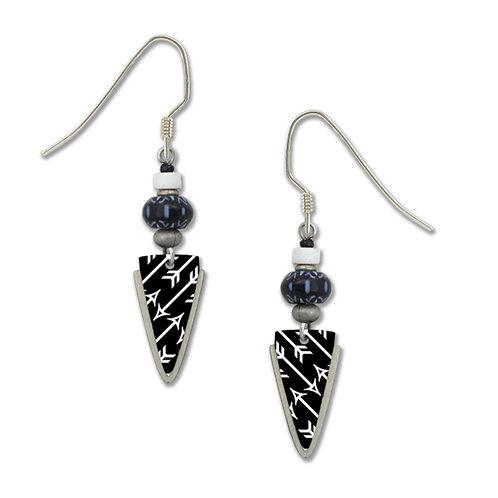 black and silver arrow