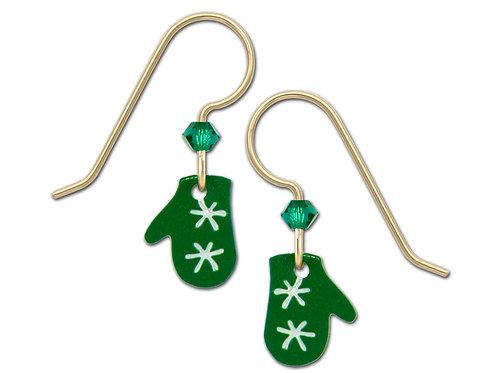 Green Christmas Mitten