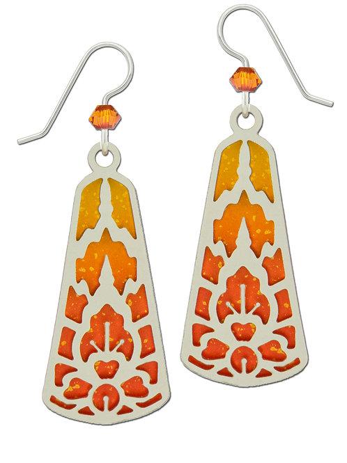 IR Abstract Design over Orange