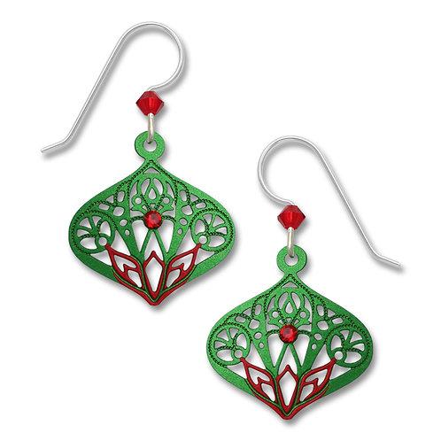 Red/Green Moorish Teardrop W/Red Rhinestone
