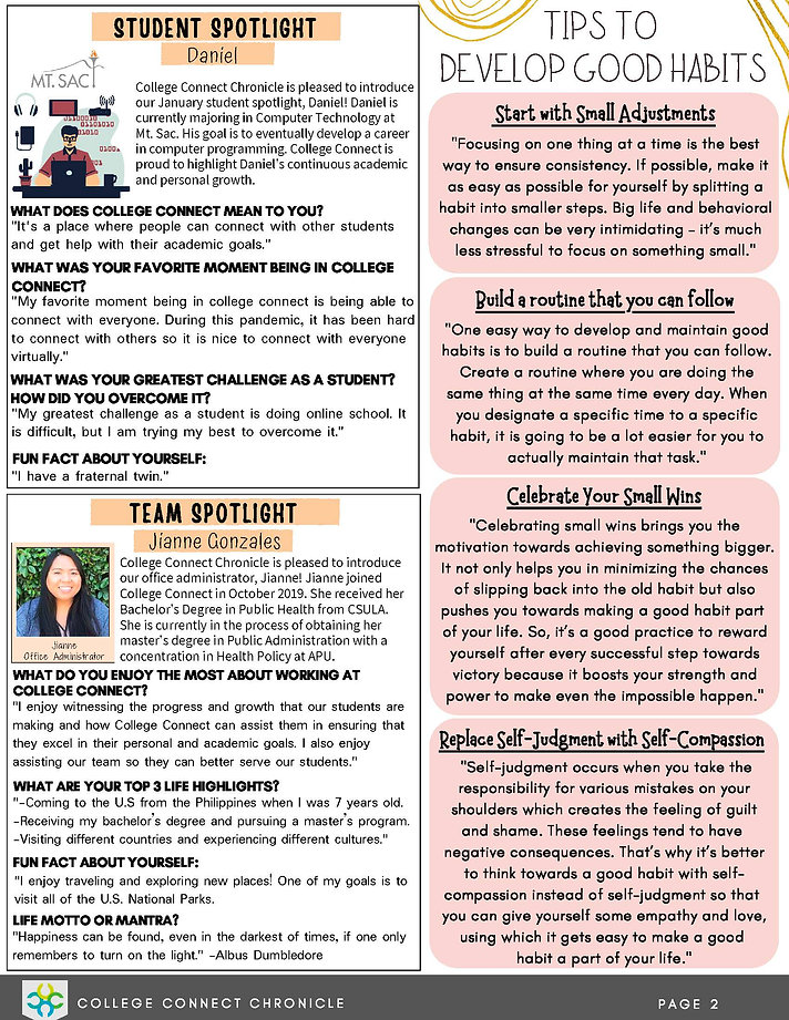 January 2021 - College Connect Newslette