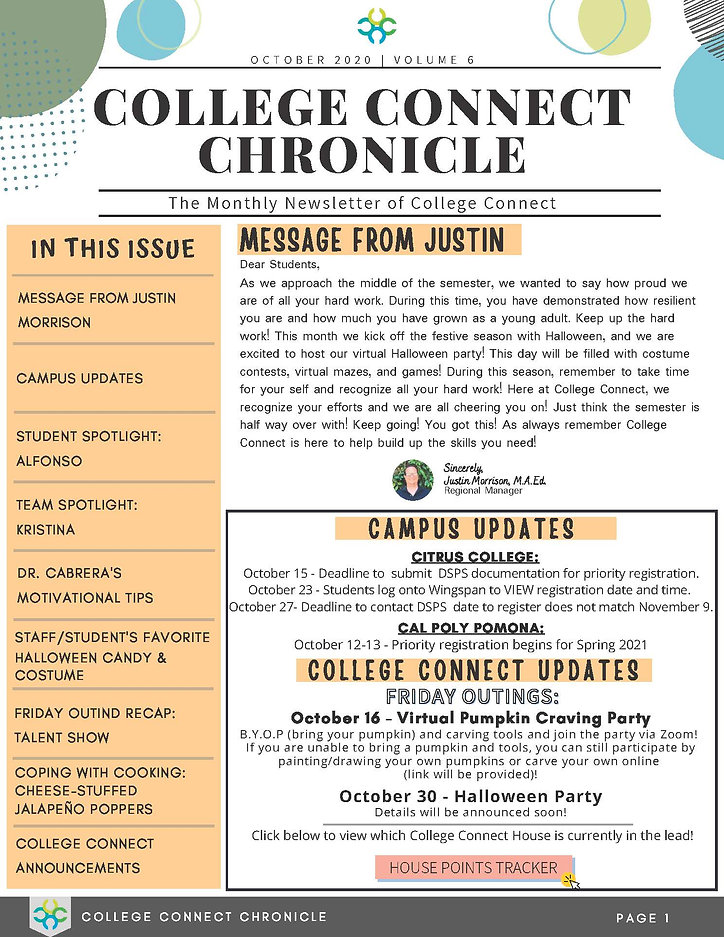 October - College Connect Newsletter Fin