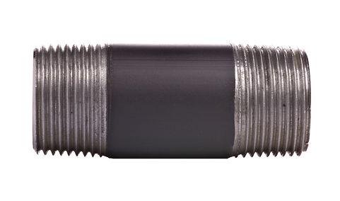 Doppelnippel Stahl schwarz