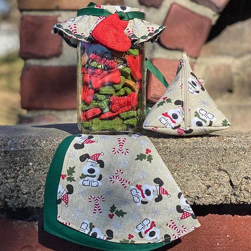 Christmas Pup Mason Jar Set