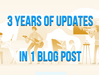 3 Years of Updates in 1 Blog Post