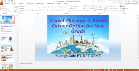 In addition to the FREE eCourses, Kaleigh is happy to offer school talks & live Q&As via vdeo chat! Most graduate programs don't cover travel therapy in the curriculum. Hear what it's all about first hand from a current traveling thrapist who began as a brand new graduate (not a staffing agency or recruiter).