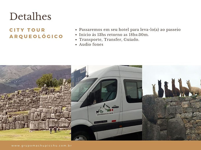City tour arqueologico o que inclui