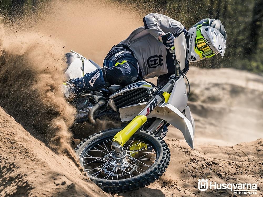 Motocross Bike In Action