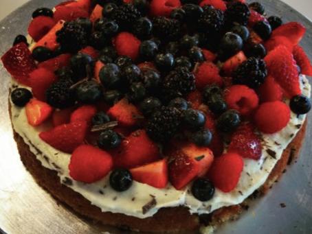 Mazarin-frugt-kage