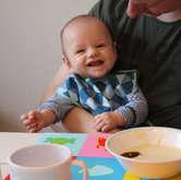 Første grød - 5 måneder gammel