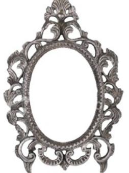 Lille spejl på væggen der
