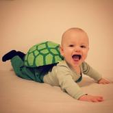 Victor er skildpadde til fastelavn - 2016