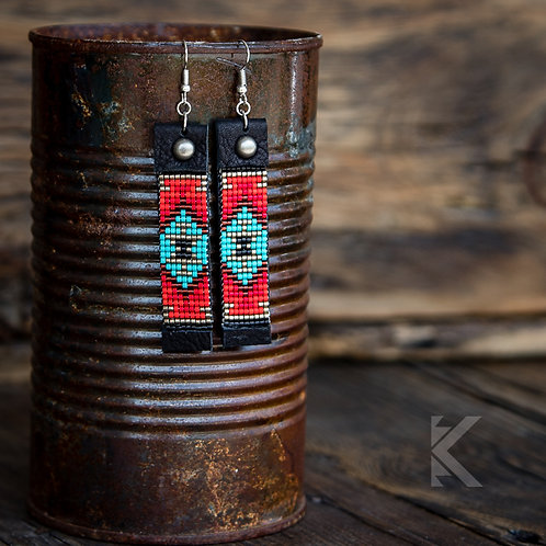Dakota Chevron Earrings