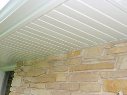 Aluminum soffit and fascia