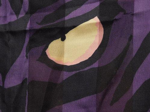 Tigers eye purple scarf.