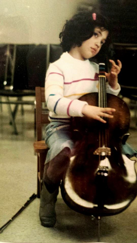 Throwback to my Suzuki cello days, age 5!