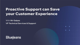 Proactive Support can Save your Customer Experience