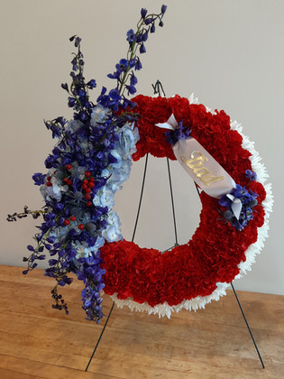 Patriotic Standing Wreath