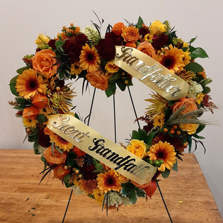 Autumn Heart Standing Wreath