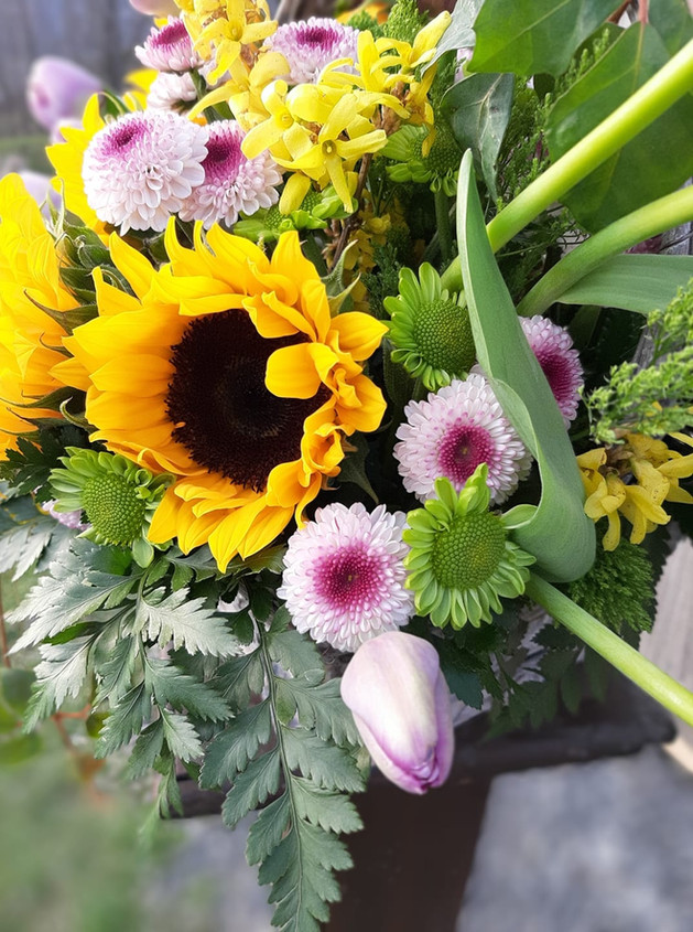 Sunflower Basket Close-up