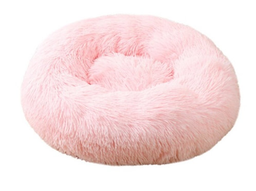 Donut Hundebett /Katzenbett light Rosa