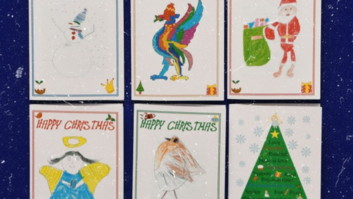 Pack of 10 Sandy Park Creations Christmas Cards