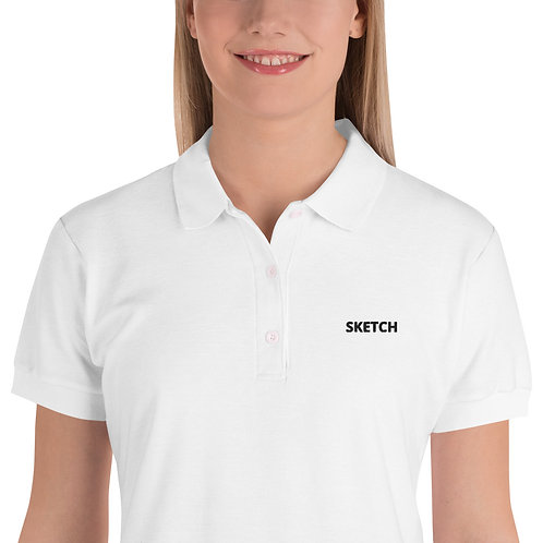 Designer Embroidered Women's Polo Shirt by SKETCH
