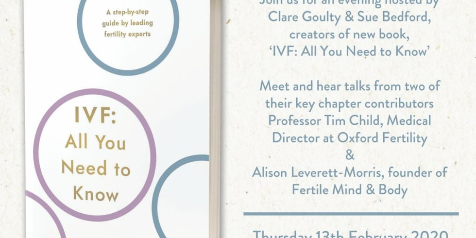 IVF: All You Need to Know free book launch and talks
