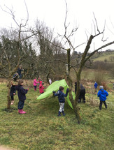 Orchard as outdoor classroom! (2018)