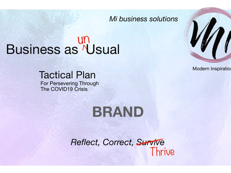 Business as  Un<usual: BRAND