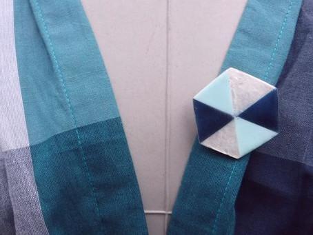 ヘキサゴンブローチ 1,500円(税抜) PeopleTreeカピス・ブローチピン タテ最大4×ヨコ3.5cm