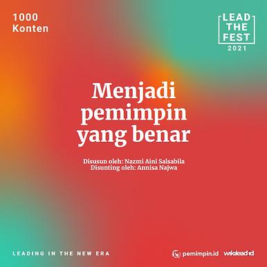 Menjadi pemimpin yang benar