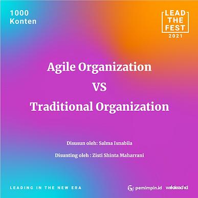 Agile Organization VS Traditional Organization