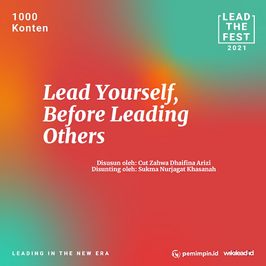 Lead Yourself, Before Leading Others