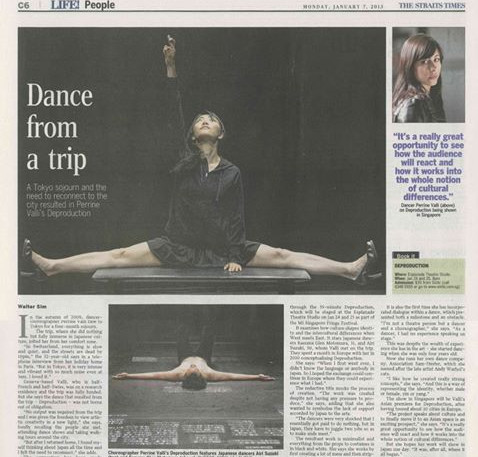 Deproduction Singapore newspaper article