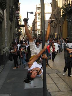 mexico city street performance Lantern1