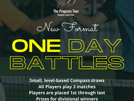 Progress Tour One dayers -Shootouts and Battles Events