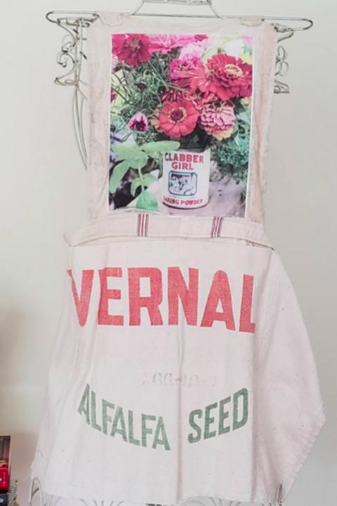 Feed Sack Apron Flowers