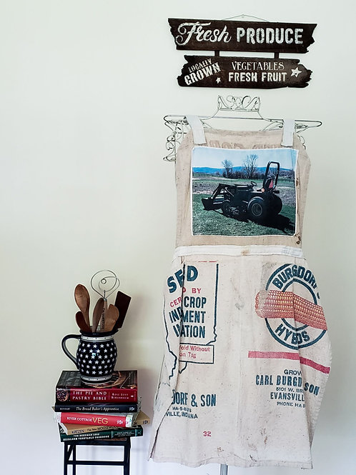 Feed Sack Apron Tractor