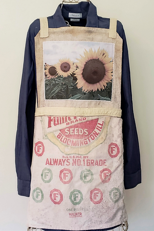 Feed Sack Apron Flowers