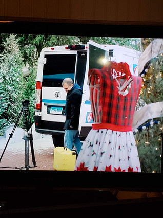 One of our aprons was actually in the movie, for a few seconds!!