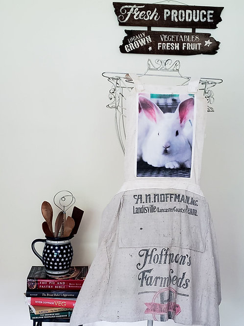 Feed Sack Apron Bunny