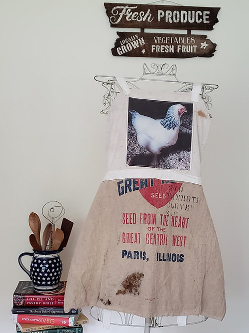 Feed Sack Apron Chicken