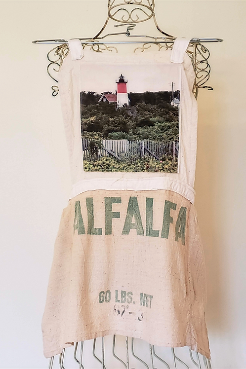 Feed Sack Apron Lighthouse