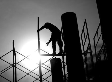 Arbetsmiljöverket ansökte om sanktionsavgift för fallrisk på byggarbetsplats
