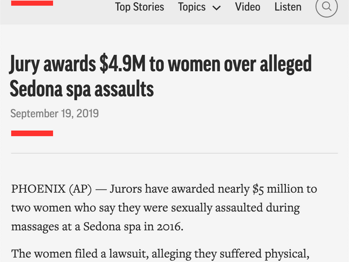 $4.9 Million Award for Spa Assault