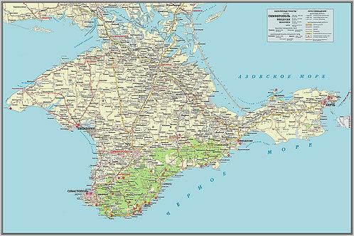 Карта п-ва Крым