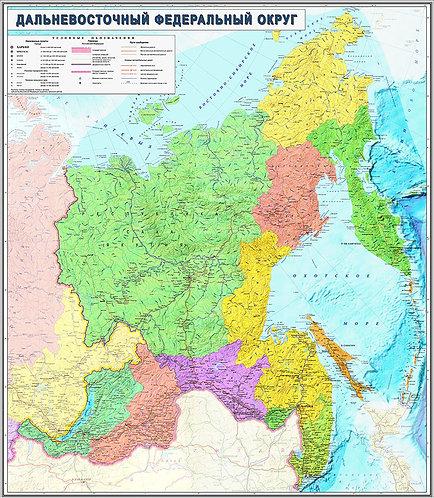 Карта Дальневосточного Федерального округа