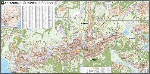 Карта Артемовского городского округа